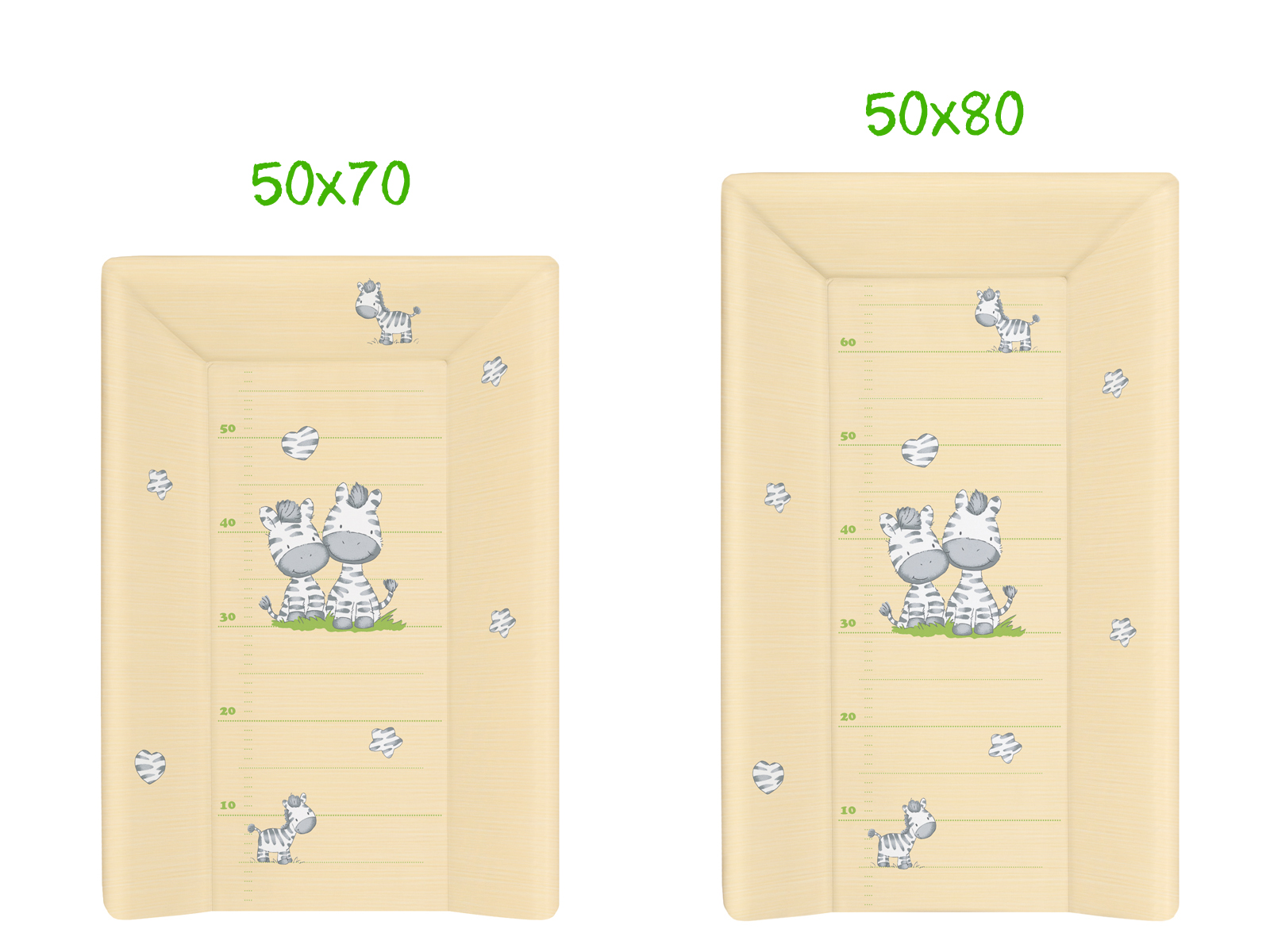 Wickelauflage 50x70 50x80 abwaschbar PVC 2 Keil feste Wickelunterlage Farbig