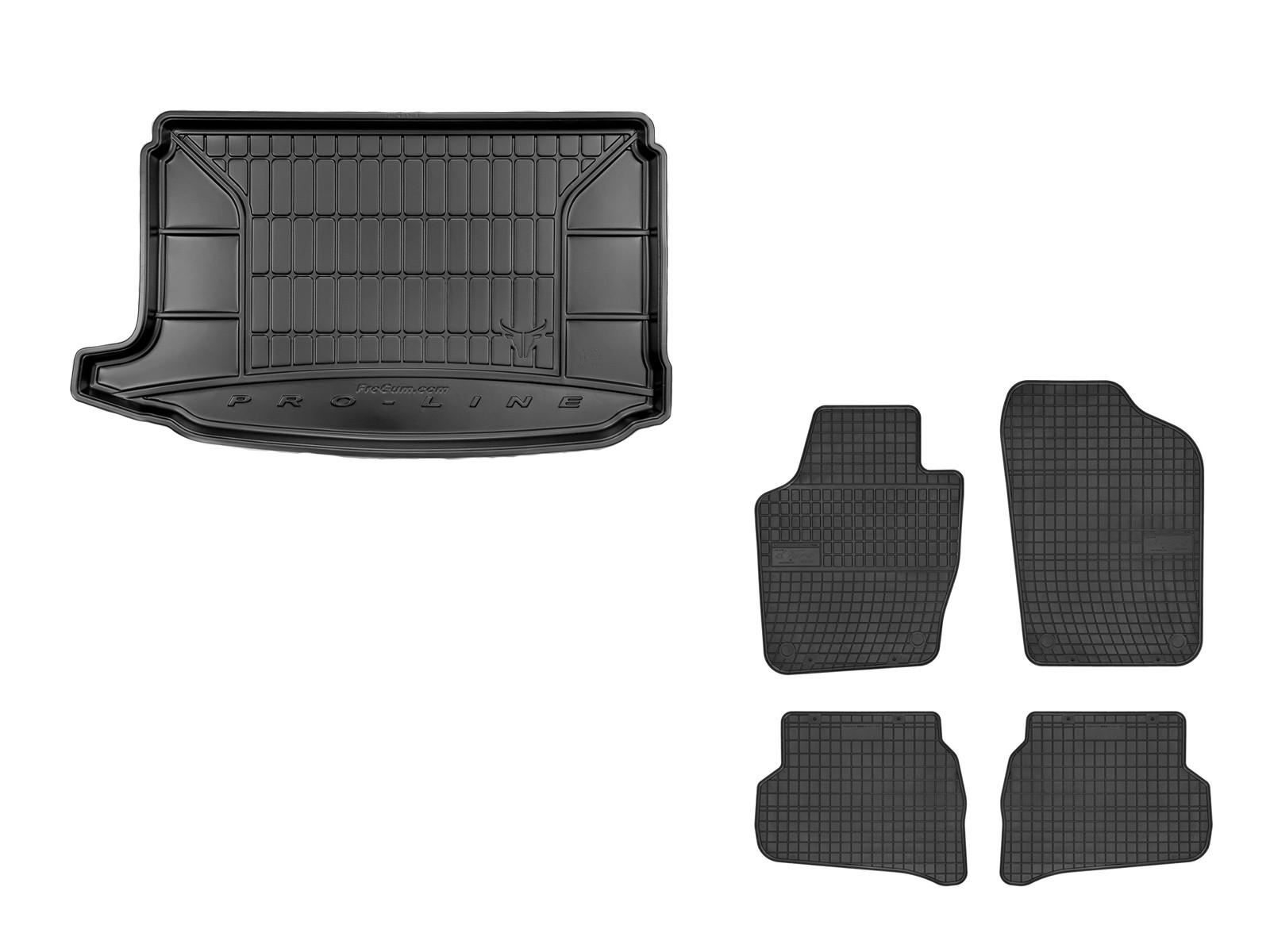 Gummi Kofferraumwanne Fußmatten VW Polo 6R ab 2009 Set Passform Matten Neu