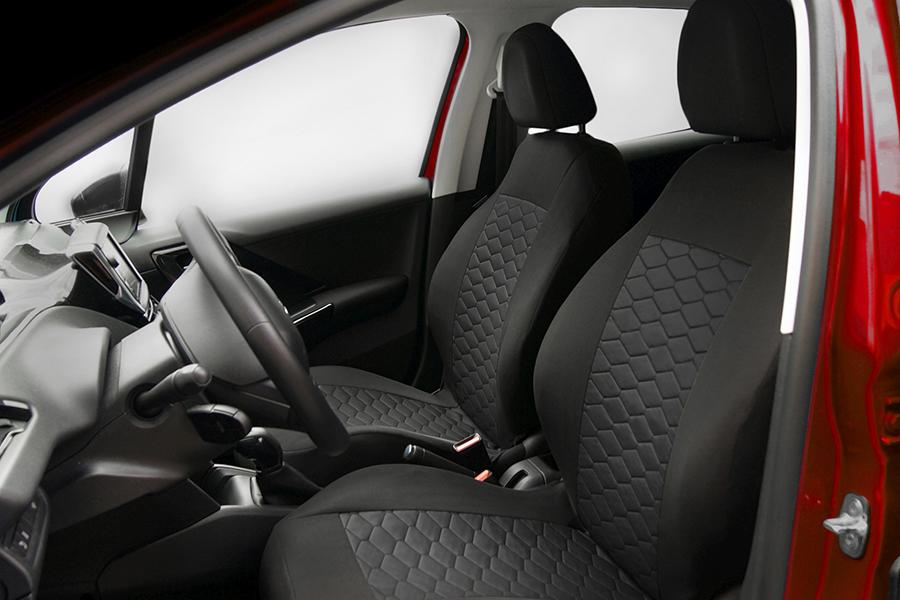 Sitzbezüge Sitzbezug Schonbezüge für VW Lupo Schwarz Modern MP-1 Komplettset