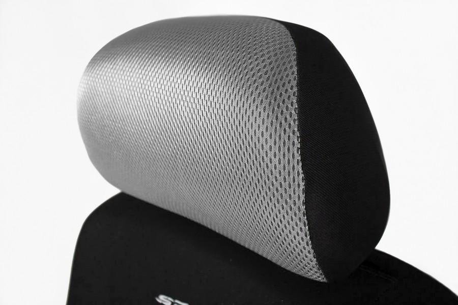 Sitzbezüge Sitzbezug Schonbezüge für Seat Ibiza Hellgrau Sportline Komplettset