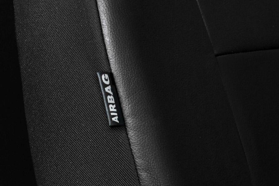 Premium Kunstleder Sitzbezüge Sitzbezug Schonbezüge für Opel Antara Schwarz Set