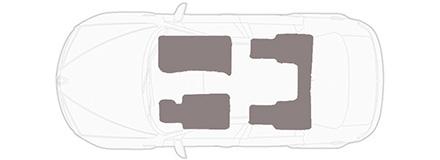 Fußmatten Auto Autoteppich passend für Hummer H2 2002-2010